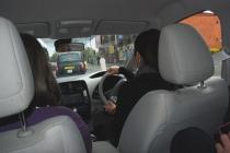 Inside a silent car